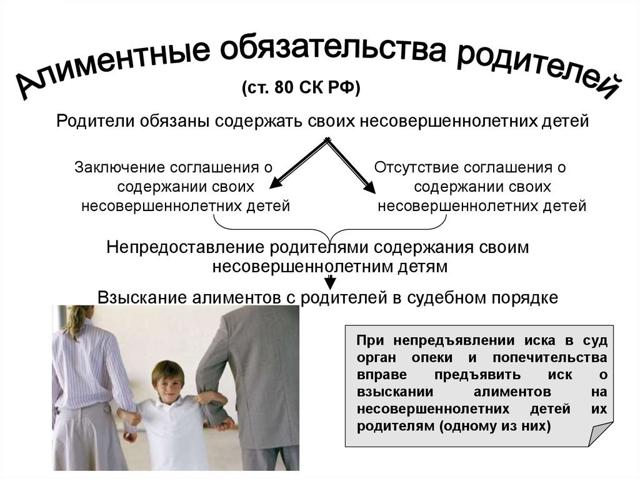 Обязанности родителей по воспитанию и содержанию детей в 2019 году